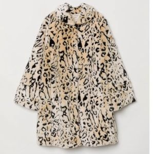 H & M ~ Faux Fur Coat